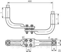 Зажим опорный 2А4А-500-3