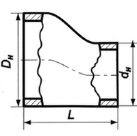 Переход 108х4-57х3 стальной эксцентрический ГОСТ 17378