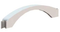 Адаптер напольного канала 50х12 мм, серый