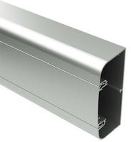 Алюминиевый кабель-канал 110х50 мм (с 1 крышкой), цвет серебристый