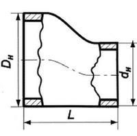 Переход 108х4-76х3,5 стальной эксцентрический ГОСТ 17378