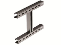 H-образное крепление к вертикальной двутавровой балке, 200 мм, горячеоцинкованное