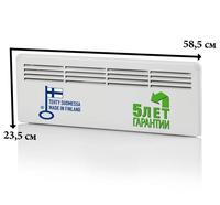 Конвектор панельный настенный 0,25 кВт 230В механический термостат защита от перегрева евровилка, Beta mini