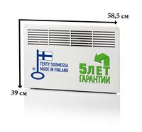 Конвектор панельный настенный 0,5 кВт 230В электронный термостат защита от перегрева евровилка IP21 Beta