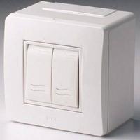 Alpenbox, розетка 32А, 400В, 5П, IP44 - 1 шт, розетка встраиваемая 16А, 250В, 3П, IP54 - 2 шт + 1 RJ45