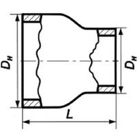 Переход 114х6-76х5 стальной концентрический ГОСТ 17378