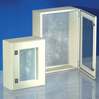 Шкаф 600x600x250мм, IP55 с прозрачной дверью навесной серии CE