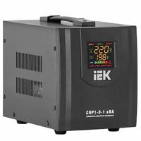 Стабилизатор напряжения однофазный 1000 ВА Uвх=(140-270 В), точность +-8% переносной релейный IEK СНР1-0-1 кВА