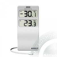 Термометр цифровой (датчик на проводе,термометр) настольно- настенный, цвет серебро