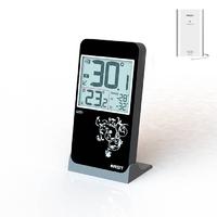 Термометр цифровой с радио датчиком в стиле iPhone настол.уст.черный