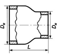 Переход 114х10-89х10 стальной концентрический ГОСТ 17378